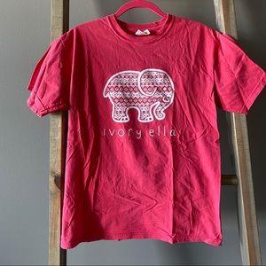 Ivory Ella Dark Coral T-Shirt